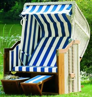 Garten-Strandkorb Classic Stoff Nr. 40 - Stefan Herdelt GmbH