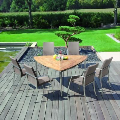 tisch new orleans sonnenpartner edelstahl mit teakholz kombiniert stefan herdelt gmbh. Black Bedroom Furniture Sets. Home Design Ideas