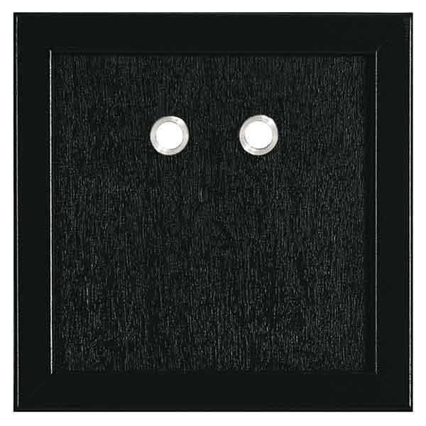 Lackierte Sichtflächen, schwarz