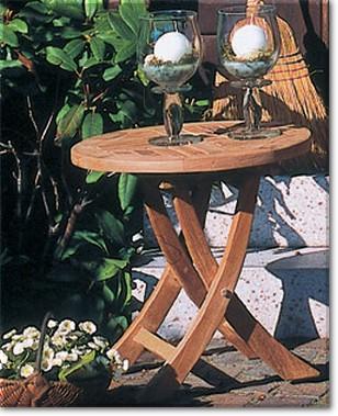 Roundside Beistelltisch D 51 Cm Sonnenpartner Teakholz Gartenmobel