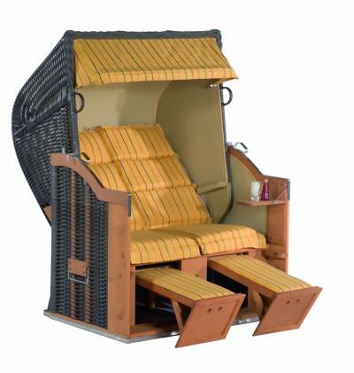 garten strandkorb classic stoff belineo gelb karo das geflecht ist aus lichtechtem pe in. Black Bedroom Furniture Sets. Home Design Ideas