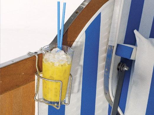 Getränkehalter aus Edelstahl zum Einhängen